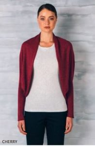 Uimi clara shrug cherry