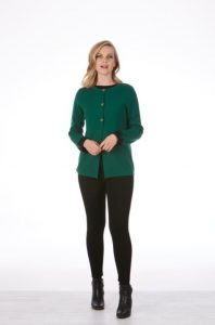 fb8412 dbl face cardi green black