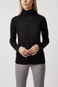 roll neck ultra fine black