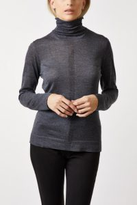 roll neck ultra fine charcoal mix