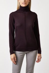 roll neck ultra fine wild berry