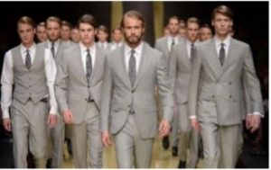 Zegna Suit on runway