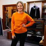 The Colin Orange zest unisex jumper