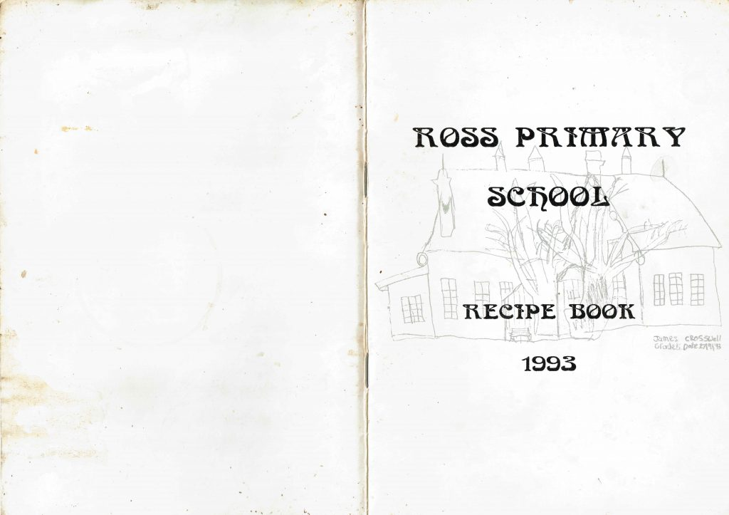 Ross Primary School Recipe book cover