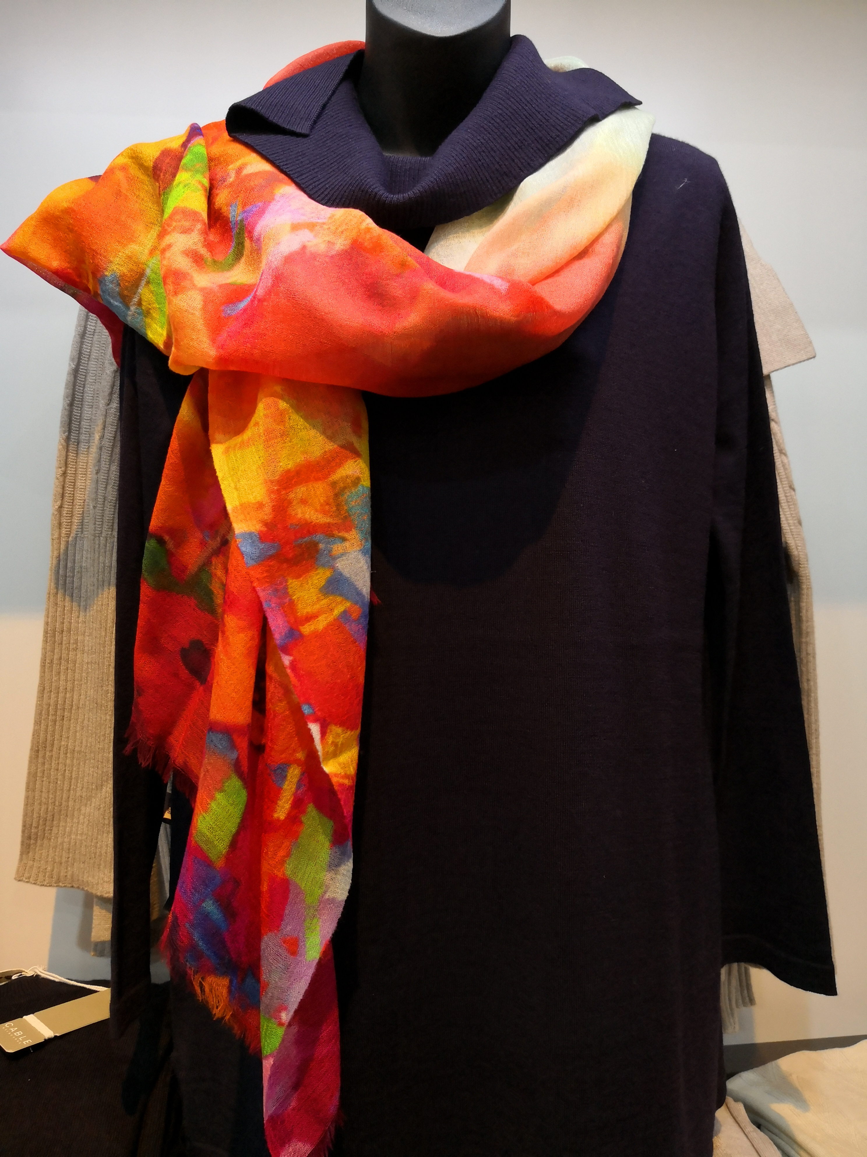 Bright Happy coloured scarf