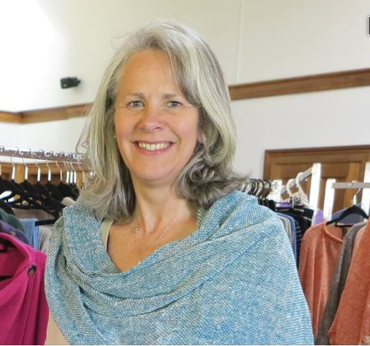 Debra, manager of Tasmanian Wool Centre, Ross, Tasmania, Australia