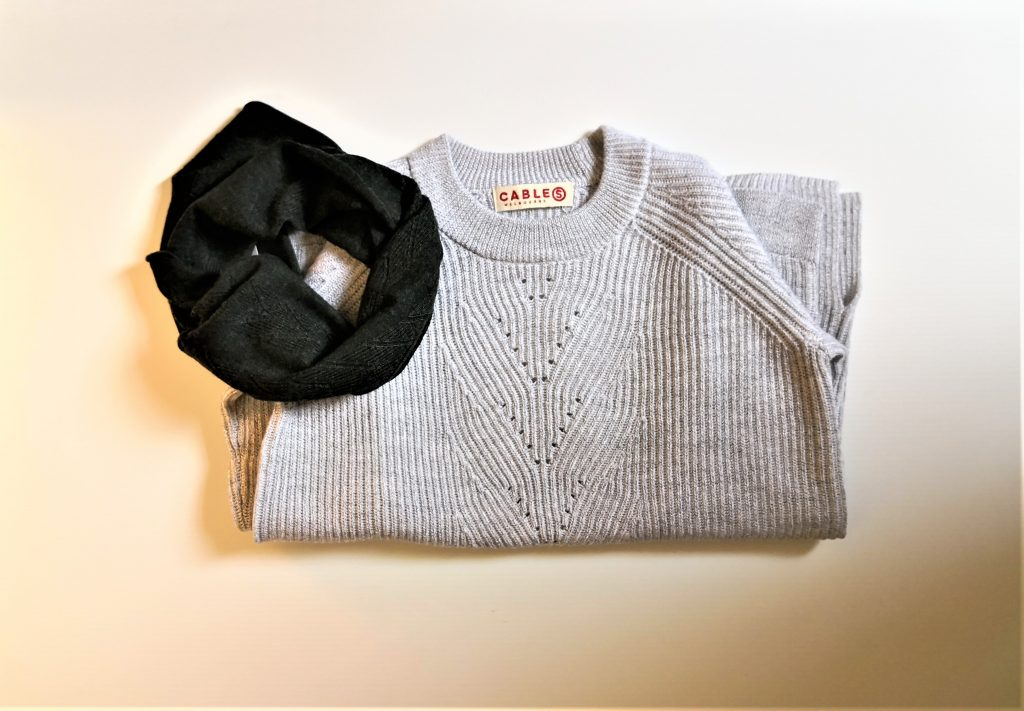 Cable Cassie Plated sweater