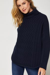 Toorallie Dell Merino Poncho Midnight