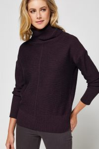 Toorallie Lockhart Merino Cowl Jumper in Wildberry