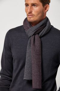Toorallie PIQUE MERINO SCARF WILDBERRY