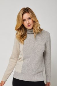 Siding Merino Polo Jumper in Grey Marl