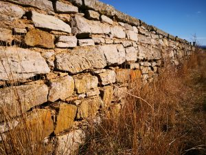 stone wall at Ross