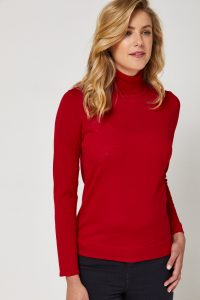 Toorallie Ultra-Fine Roll Neck Red