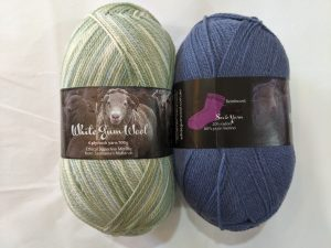 White Gum Wool 4ply sock, available at Tasmanian Wool Centre, Ross