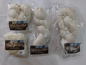 White Gum Wool natural hanks