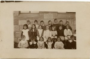 School photo of students from Ross School, c 1900