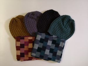 Uimi beanies and scarves