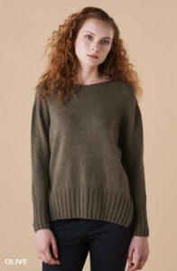 Uimi Quinn jumper in Olive