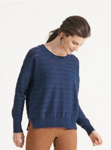 Nikel and Sole Shefford jumper, colour Maritime