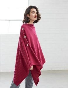 Nikel and Sole Edmonton Poncho, colour Berry