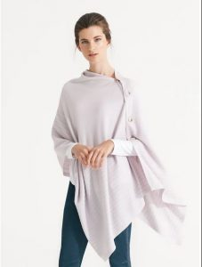 Nikel and Sole Edmonton Poncho, colour Soft Pink